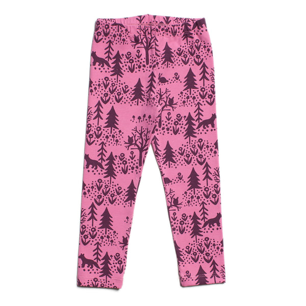 Baby Leggings - Winter Scenic Dusty Rose