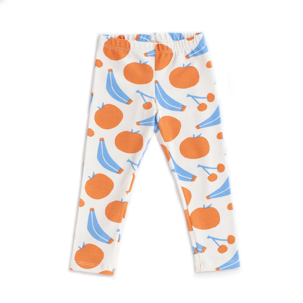 Baby Leggings - Yummy Fruit Blue & Orange
