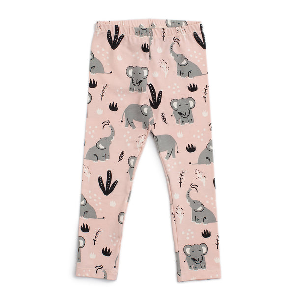 Baby Leggings - Elephants Pink