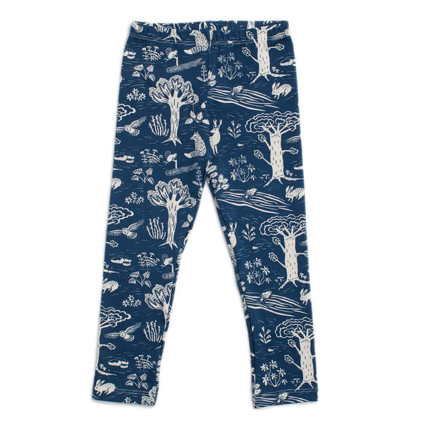 Baby Leggings - In The Forest Navy