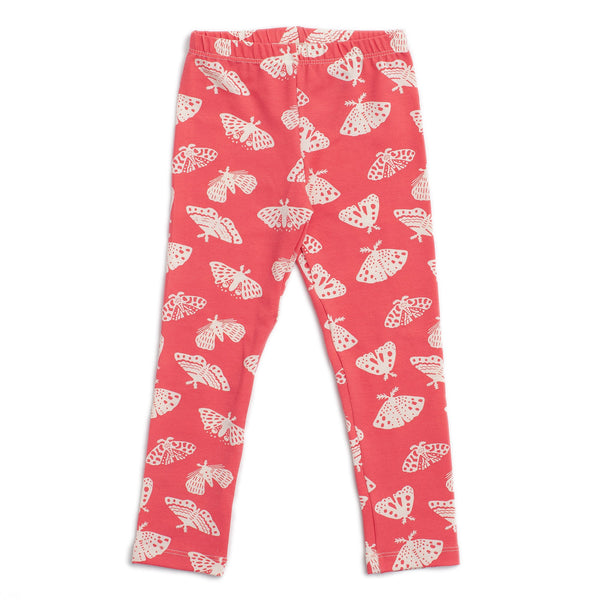 Baby Leggings - Moths Coral