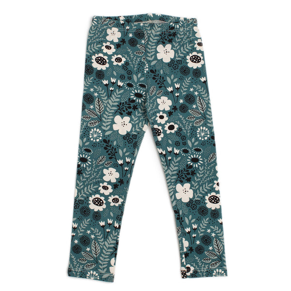 Baby Leggings - Wildflowers Teal