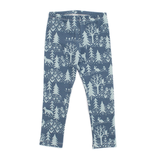 Baby Leggings - Winter Scenic Slate Blue