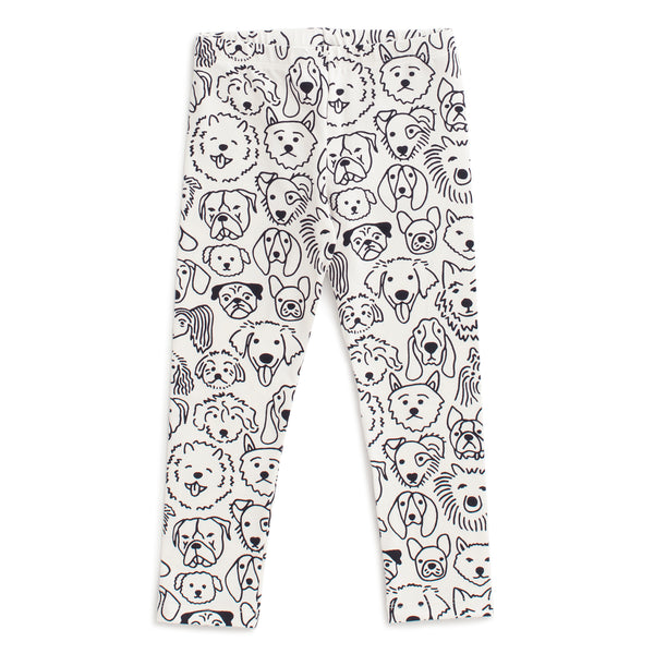 Baby Leggings - Dogs Black