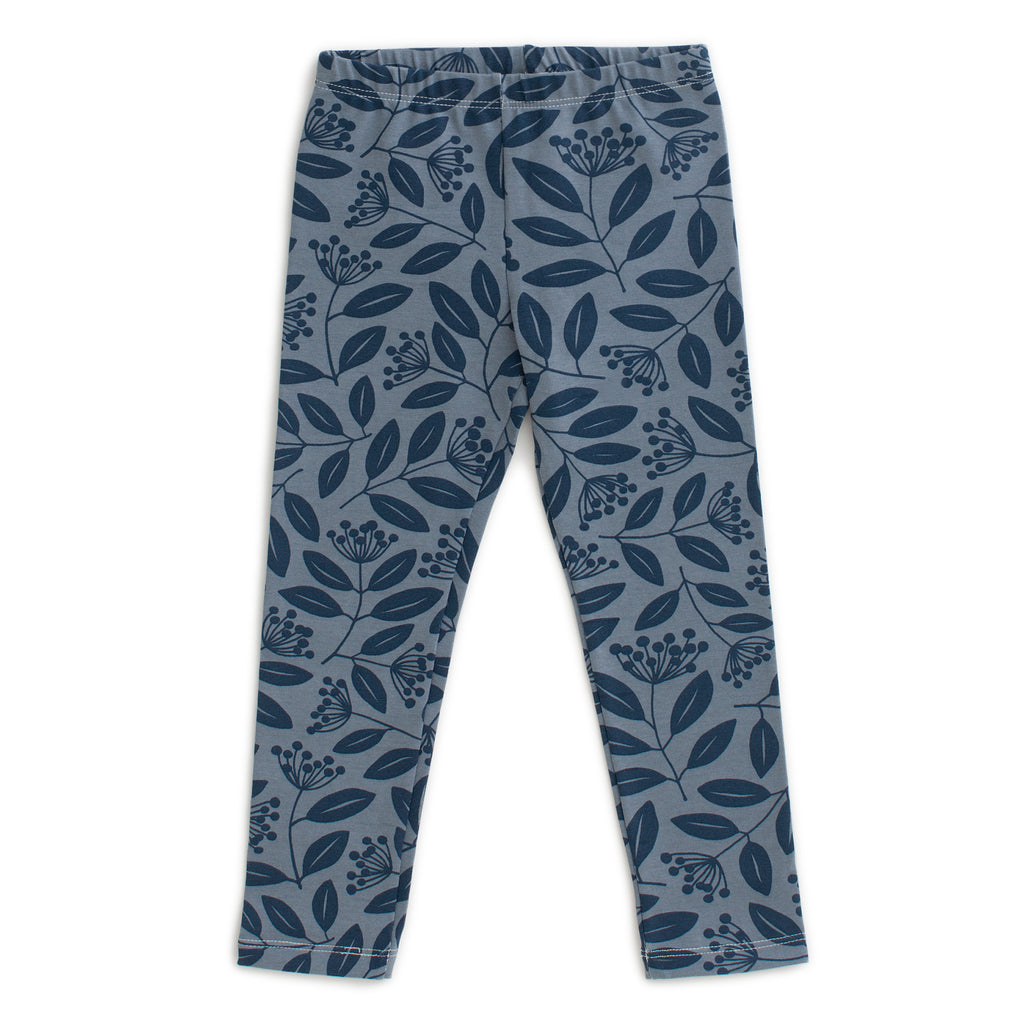 Leggings - Elderberry Night Sky & Slate Blue
