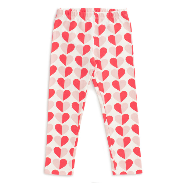 Leggings - Hearts Red & Pink