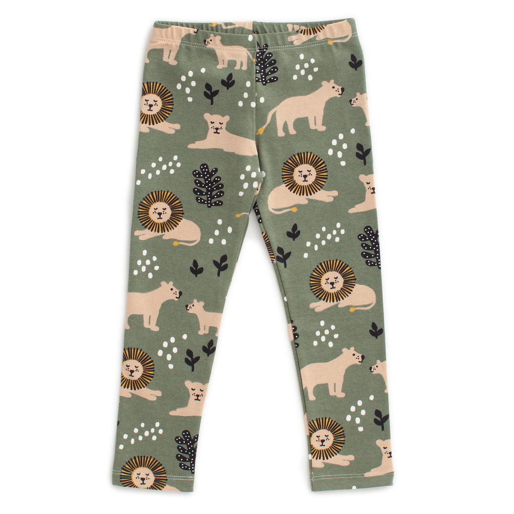 Leggings - Lions Forest Green