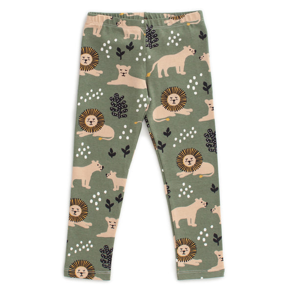 Baby Leggings - Lions Forest Green
