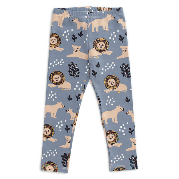 Baby Leggings - Lions Slate Blue