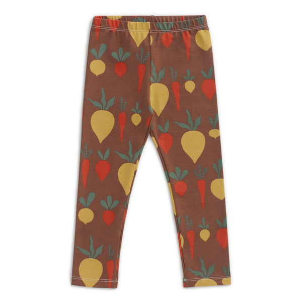 Leggings - Root Vegetables Chestnut
