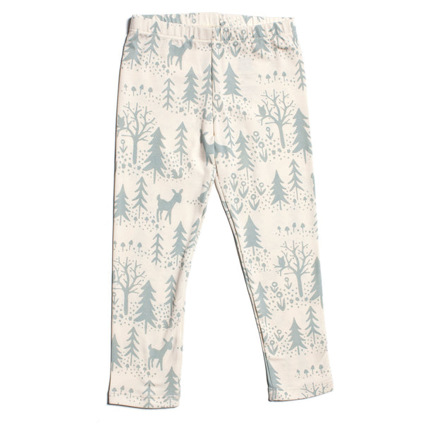 Baby Leggings - Winter Scenic Pale Blue