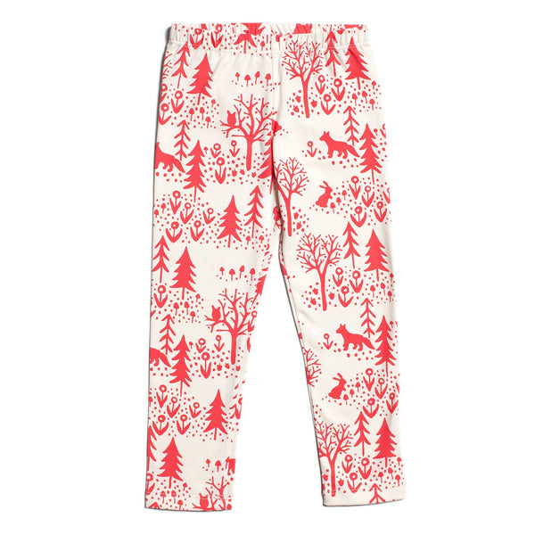 Baby Leggings - Winter Scenic Red