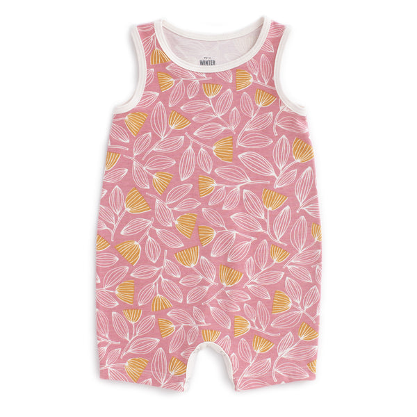 Tank-Top Romper - Holland Floral Dusty Pink & Yellow