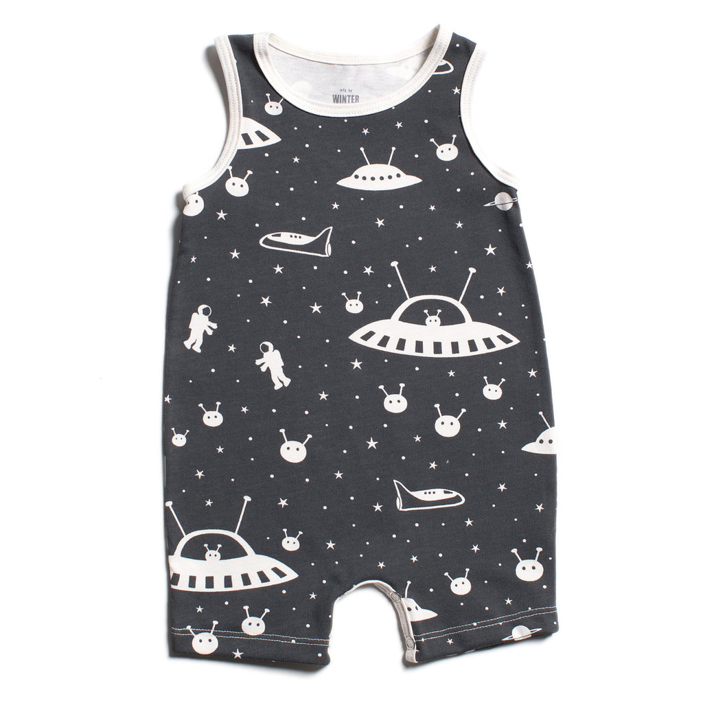 Tank-Top Romper - Outer Space Charcoal