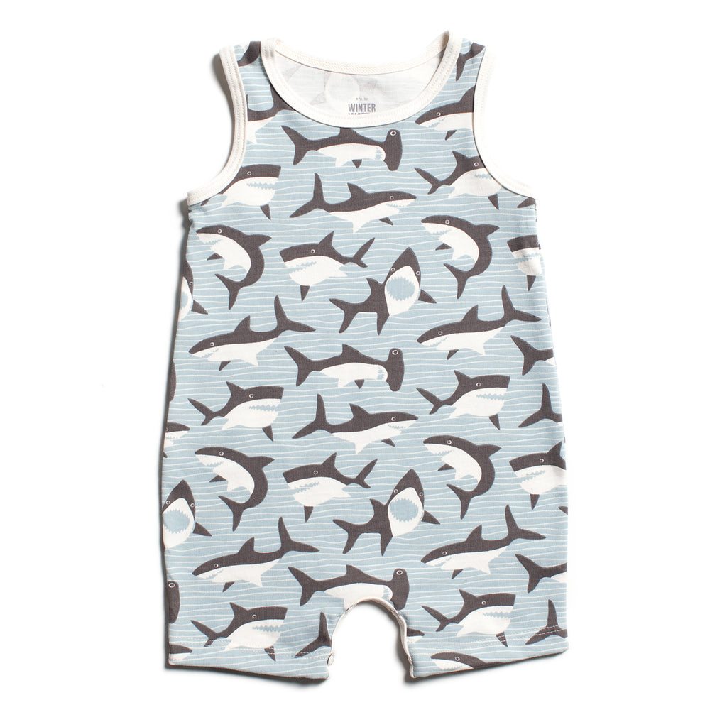 Tank-Top Romper - Sharks Grey