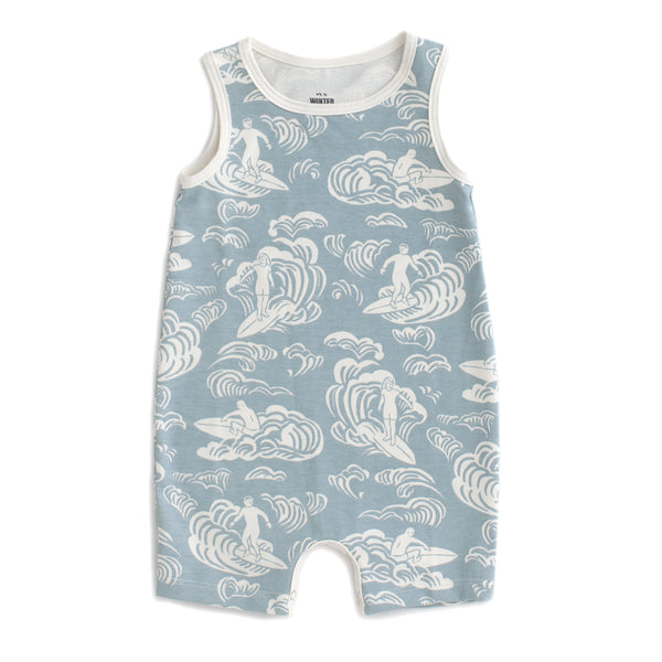 Tank Top Romper - Surfers Pale Blue