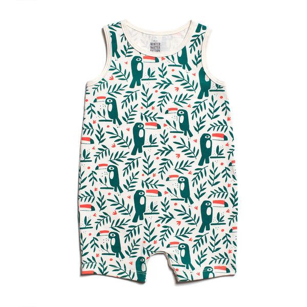 Tank-Top Romper - Toucans Green