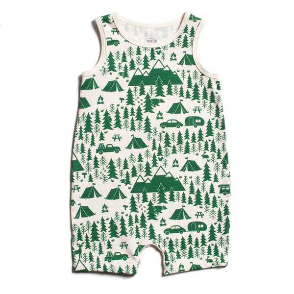 Tank-Top Romper - Campground Green