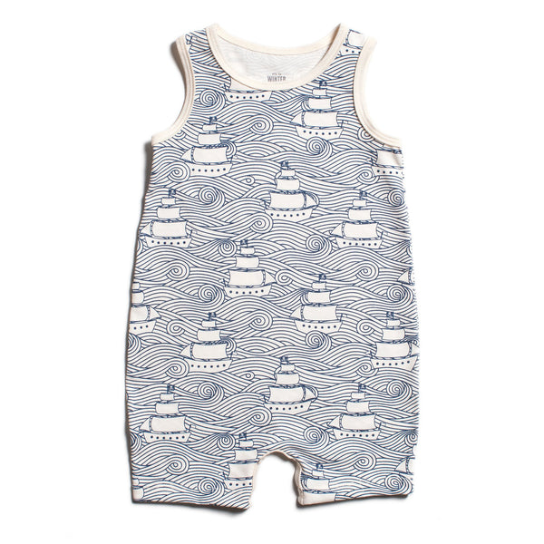 Tank Top Romper - High Seas Navy