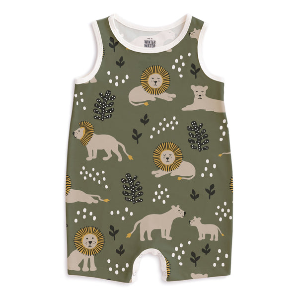 Tank Top Romper - Lions Forest Green