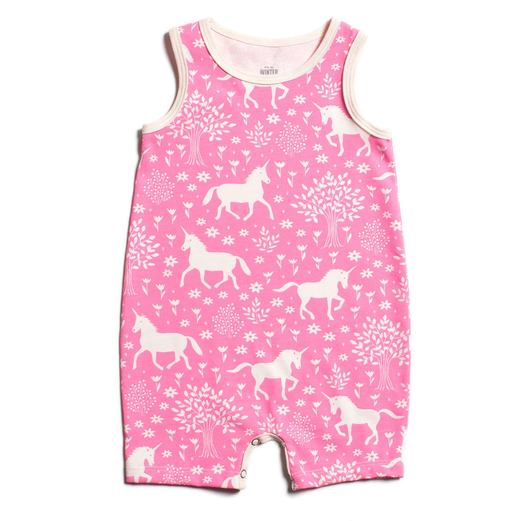 Tank-Top Romper - Magical Forest Pink