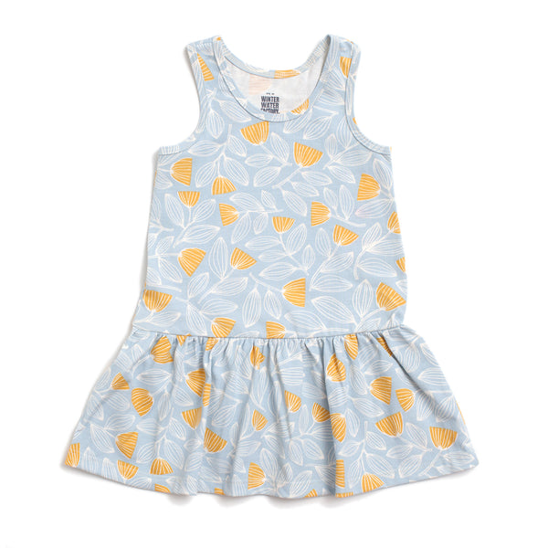 Valencia Dress - Holland Floral Blue & Yellow