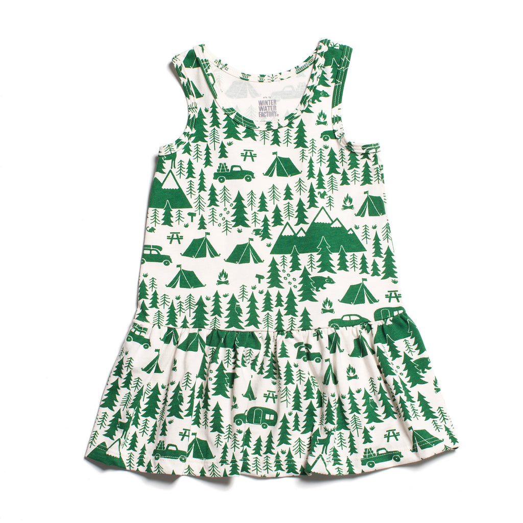 Valencia Dress - Campground Green