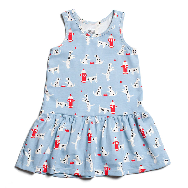 Valencia Dress - Dalmatians Blue