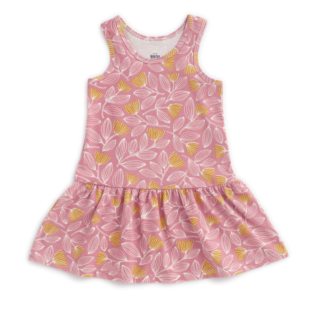 Valencia Dress - Holland Floral Dusty Pink & Yellow