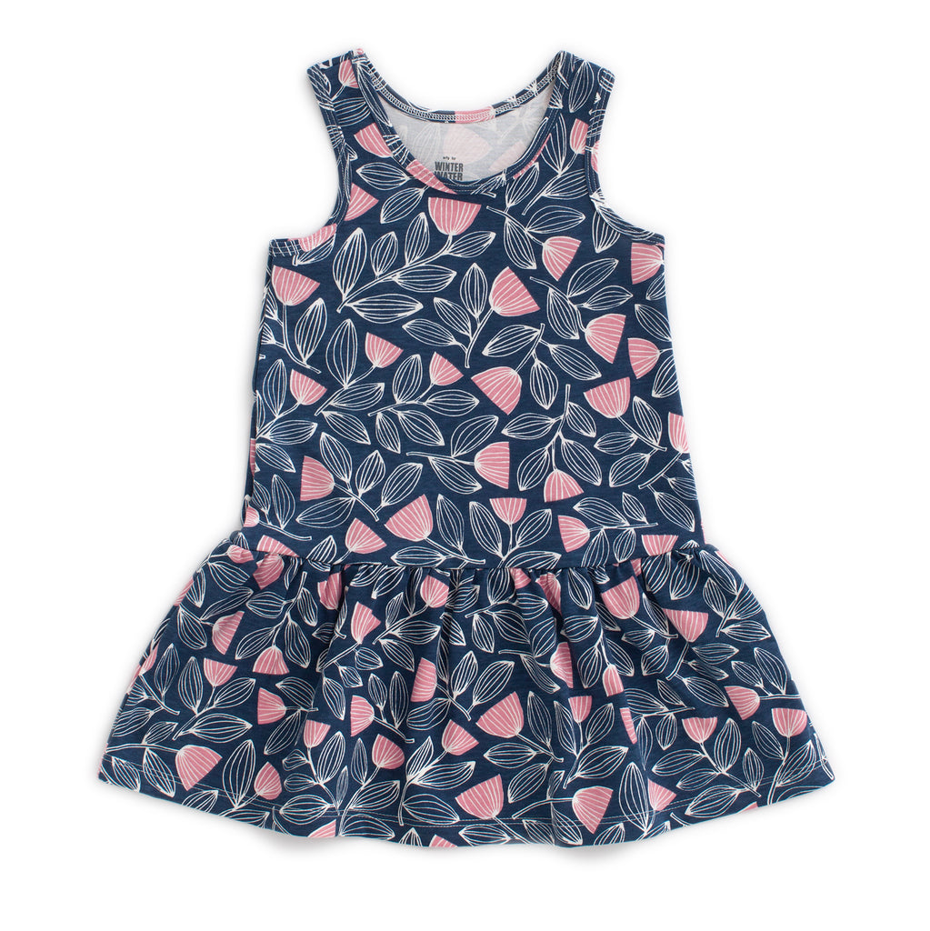 Valencia Dress - Holland Floral Midnight Blue & Dusty Pink