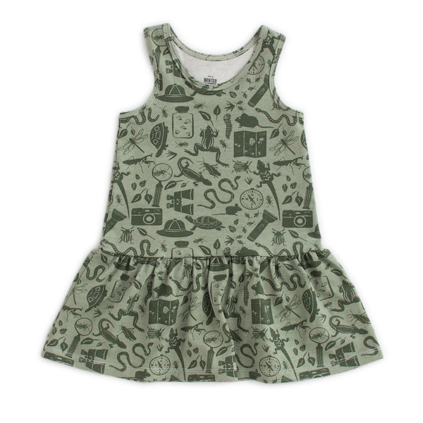Valencia Dress - Nature Explorer Forest Green