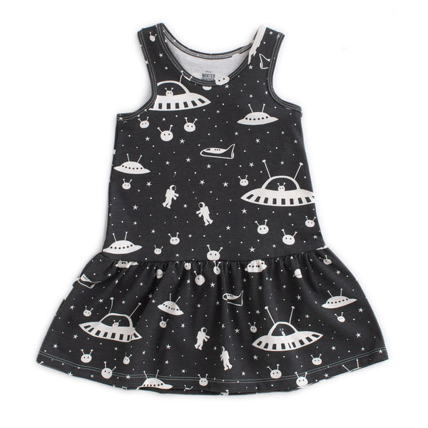 Valencia Dress - Outer Space Charcoal