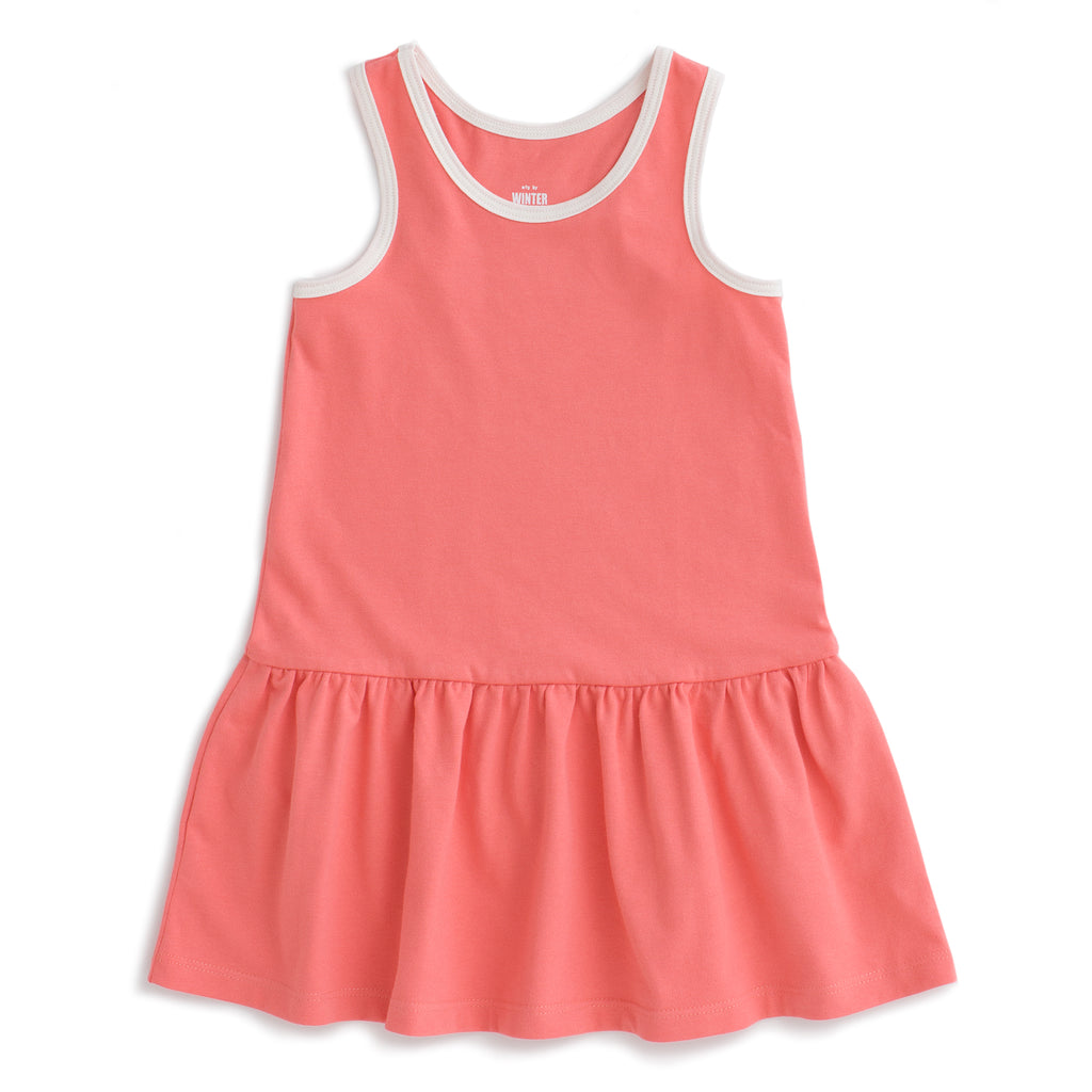 Valencia Dress - Solid Coral