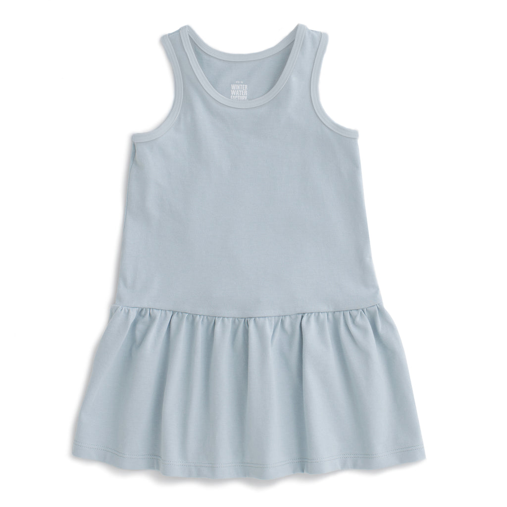 Valencia Dress - Solid Pale Blue