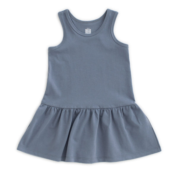 Valencia Dress - Solid Slate Blue