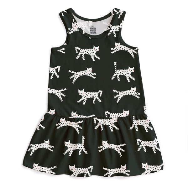 Valencia Dress - Cats Black