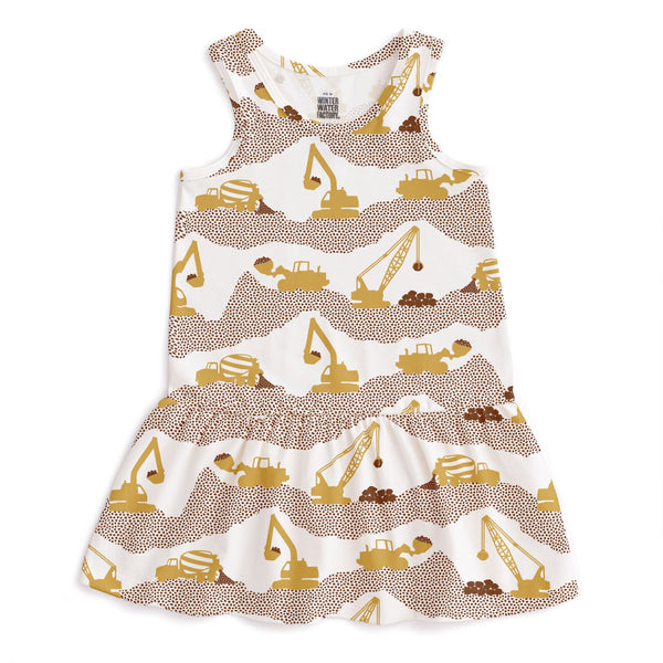 Valencia Dress - Construction Yellow & Chestnut