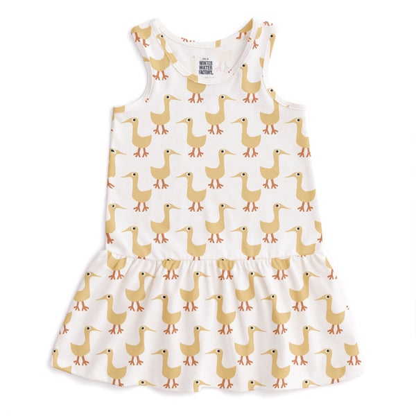 Valencia Dress - Ducks Yellow
