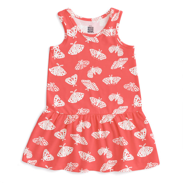 Valencia Dress - Moths Coral