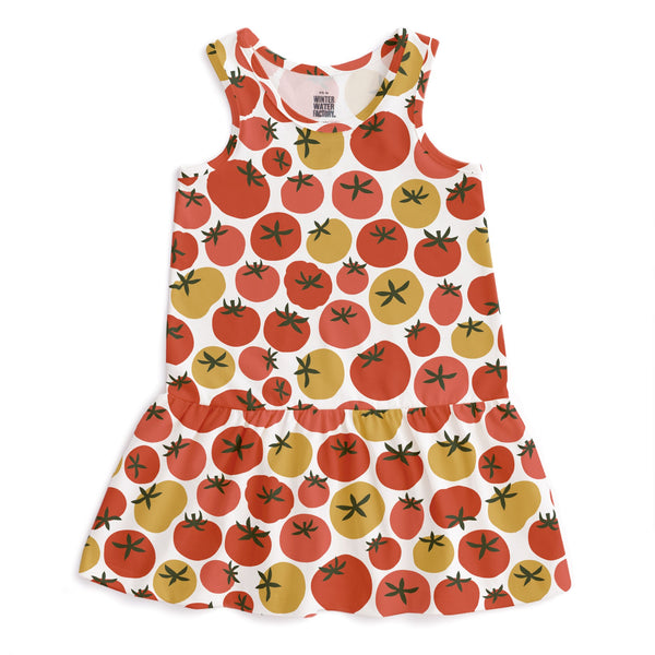 Valencia Dress - Tomatoes Red & Yellow