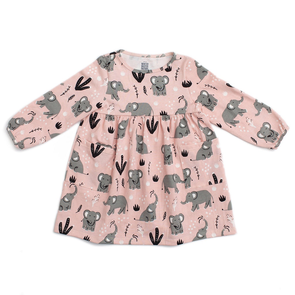 Victoria Dress - Elephants Pink