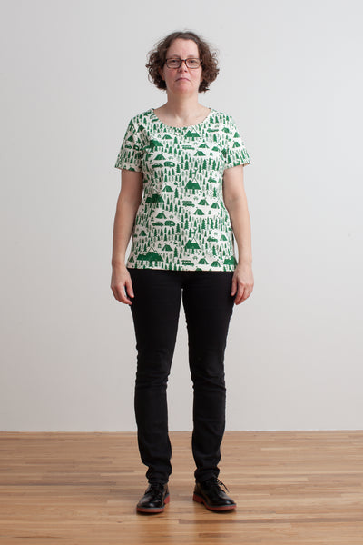 Women's Bristol Tee - Campground Green
