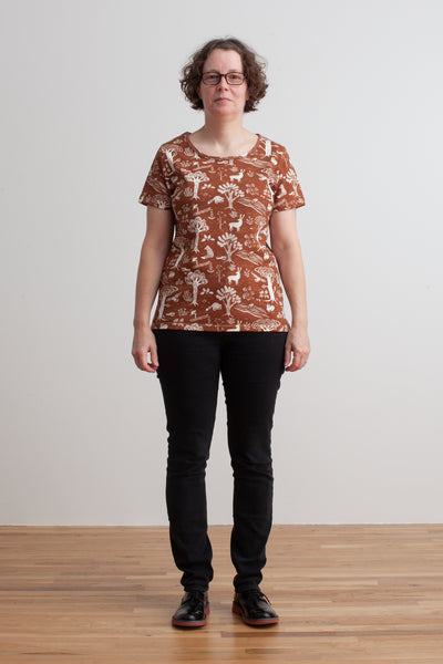 Women's Bristol Tee - In the Forest Chestnut