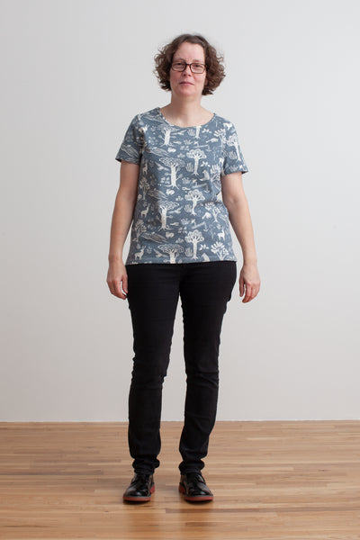 Women's Bristol Tee - In the Forest Slate Blue