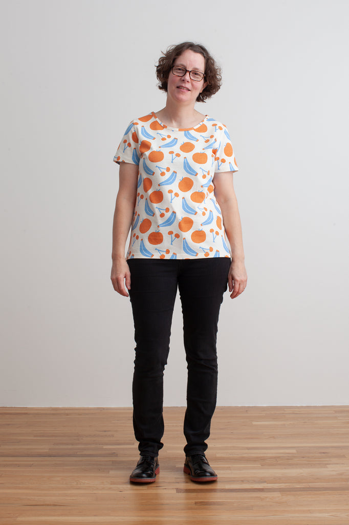 Women's Bristol Tee - Yummy Fruit Blue & Orange