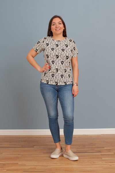 Women's Glasgow Top - Bears Black