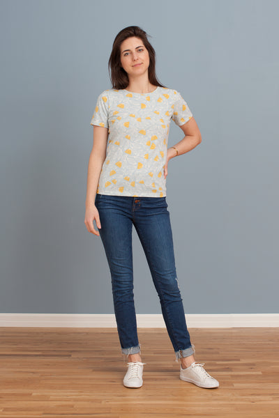 Women's Glasgow Top - Holland Floral Blue & Yellow