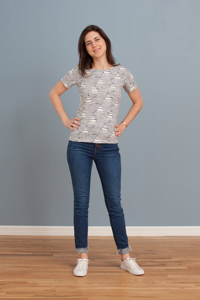 Women's Glasgow Top - High Seas Navy