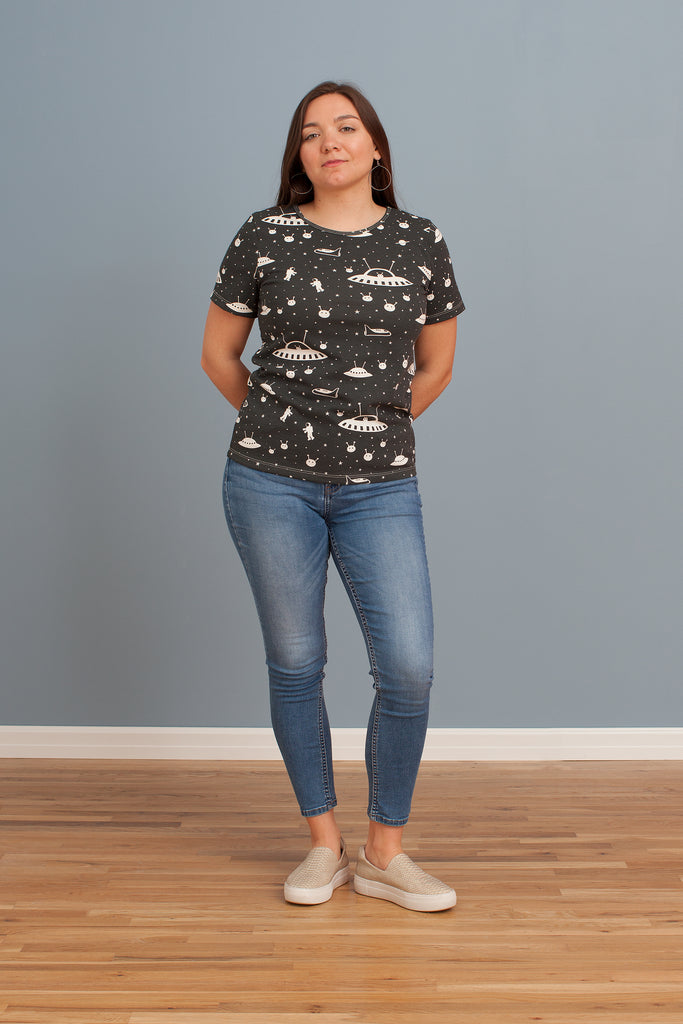 Women's Glasgow Top - Outer Space Charcoal