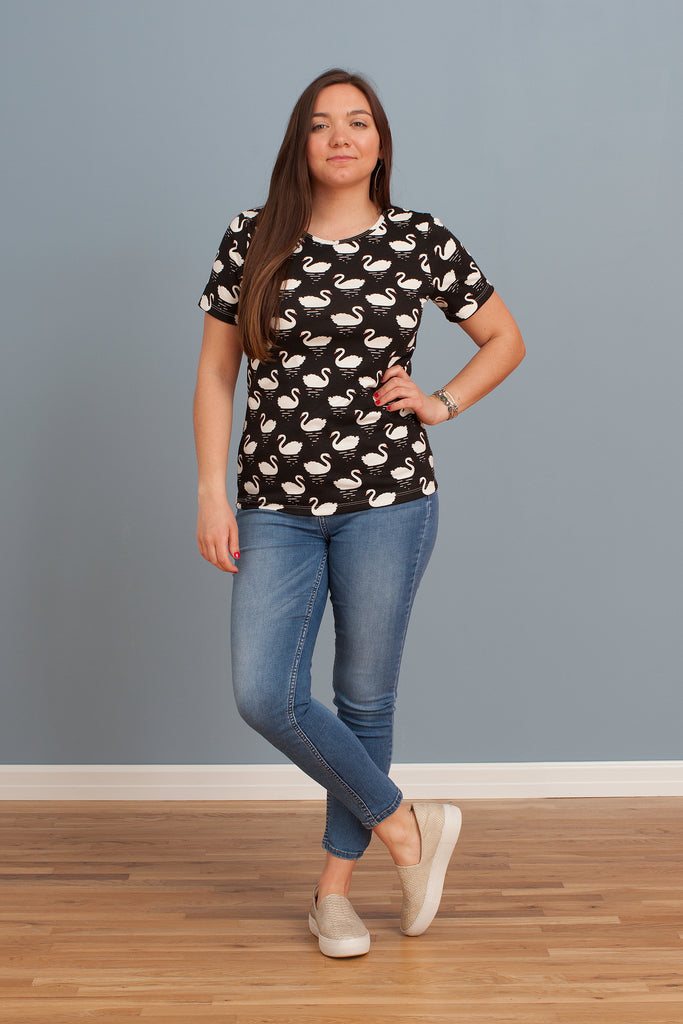 Women's Glasgow Top - Swans Black